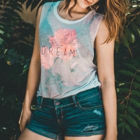 T-shirt senza maniche donna