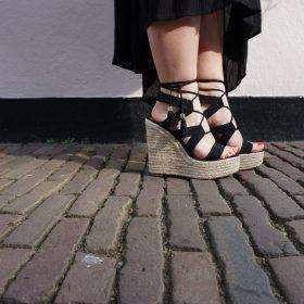 Sandali con plateau donna