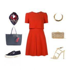Come indossare il vestito corto rosso