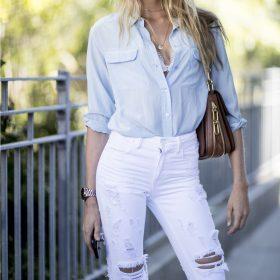 Jeans a vita alta da donna