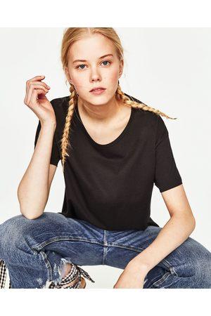 Donna T-shirts - Zara MAGLIETTA COTONE BASIC - Disponibile in altri colori