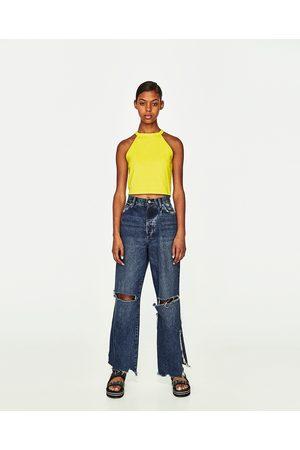 Zara TOP CROPPED COLLO HALTER - Disponibile in altri colori