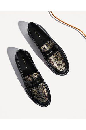 promozione completo nelle specifiche scarpe da ginnastica a buon mercato MOCASSINO PELLE PAILLETTES