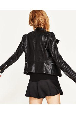 Donna Online it Compara Acquista Zara Di E Pelle Giacche Fashiola 7BATSw