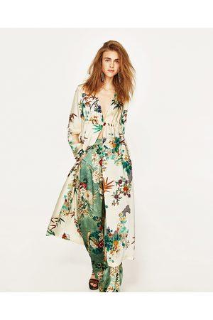 Zara Lungo kimono Abbigliamento Donne 8479289d53b
