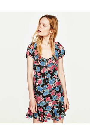Donna Vestiti stampati - Zara FRILLED FLORAL PRINT DRESS