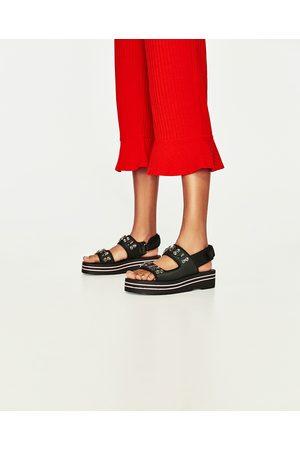 Donna Pantaloni - Zara PANTALONI CANNETÉ VOLANT - Disponibile in altri colori
