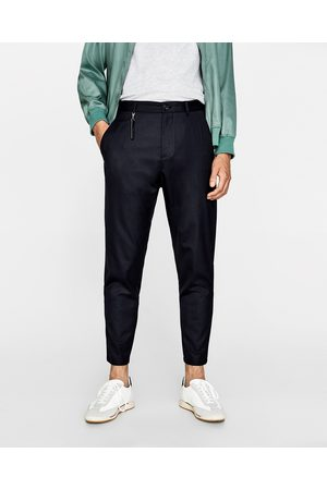 Zara PANTALONI LANA CARROT FIT - Disponibile in altri colori