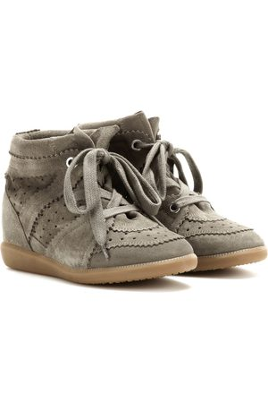 Isabel Marant Sneakers Bobby in suede con zeppa