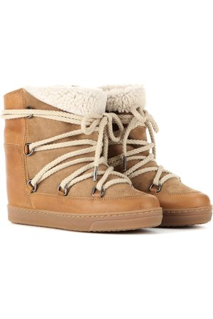 Isabel Marant Stivaletti Nowles in suede con zeppa