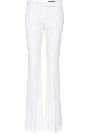 Alexander McQueen Donna A zampa - Pantaloni flared in cady