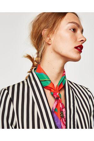 Zara FOULARD STAMPA FLOREALE MAXI