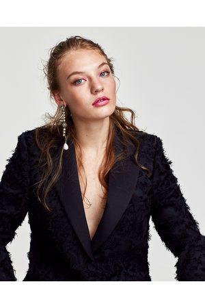 Zara GIACCA JACQUARD FRANGE