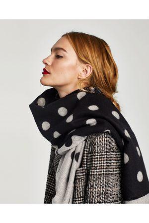 Zara FOULARD A POIS DOUBLE FACE