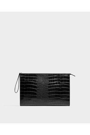 Zara POCHETTE STAMPA RETTILE - Disponibile in altri colori