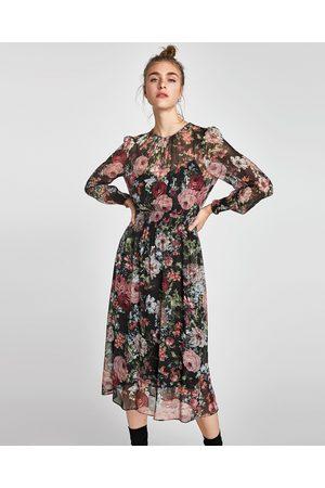 Donna Vestiti stampati - Zara VESTITO MIDI STAMPATO