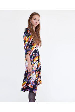 Zara Abito righe Abbigliamento Donne 747073c934c