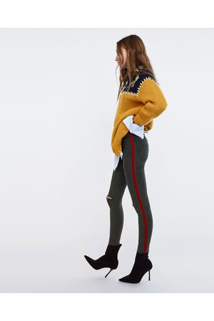 Zara JEANS HIGH ELASTICITY HIGH WAIST BANDA LATERALE