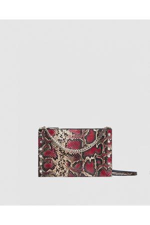 Zara TRACOLLA-CLUTCH IN PELLE STAMPATA - Disponibile in altri colori