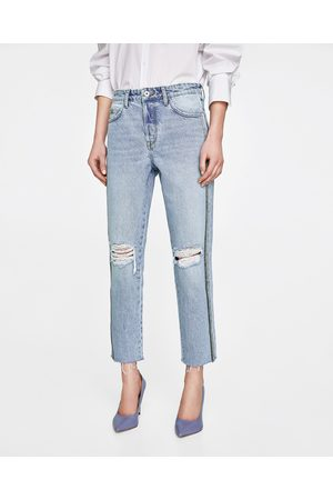 Zara JEANS MOM FIT NASTRI