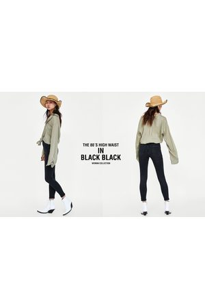 Zara Donna Jeans a vita alta - JEANS 80´S HIGH WAIST BLACK