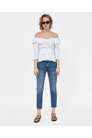 Zara Donna Jeans a vita alta - JEANS VINTAGE HIGH WAIST MALIBU BLUE