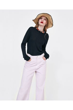 Zara Donna Jeans a vita alta - JEANS HIGH WAIST CULOTTE LILAC