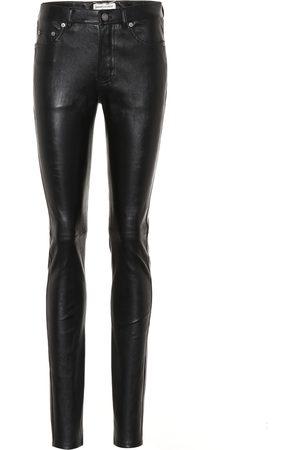 Saint Laurent Donna Di pelle - Pantaloni skinny in pelle