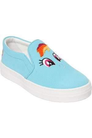 "JOSHUA SANDERS Bambino Sneakers - SNEAKERS SLIP-ON ""RAINBOW"" IN TELA DI COTONE"