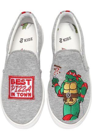 "JOSHUA SANDERS Bambino Sneakers - SNEAKERS SLIP-ON ""RAPHAEL NINJA TURTLE"""