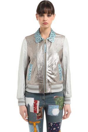 Donna Giacche di pelle - Tommy Hilfiger BOMBER IN PELLE LAMINATA