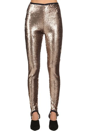 Stella Jean Leggings Stretch Con Paillettes