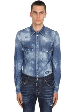 Dsquared2 Camicia Western In Denim