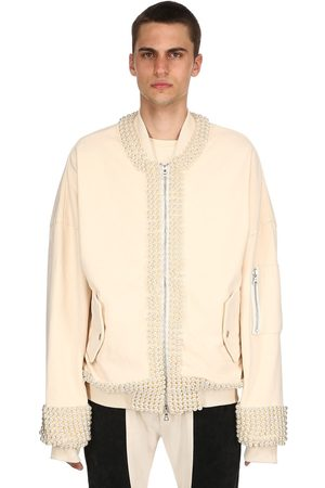 ARNODEFRANCE Bomber In Cotone Con Perle