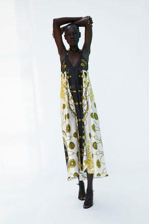 Zara CHAIN PRINT MIDI DRESS