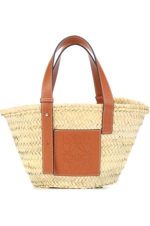 Loewe Borsa Basket Bag Small in paglia e pelle