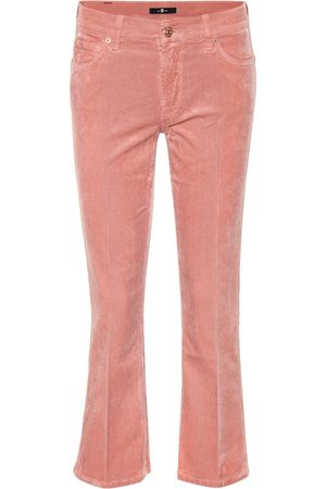 7 for all Mankind Pantaloni cropped in velluto a costine