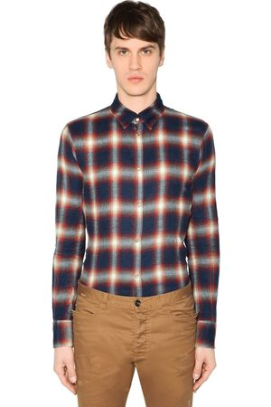Dsquared2 T-shirt Button Down In Cotone Check