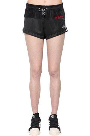 adidas Shorts In Velluto E Techno Tessuto