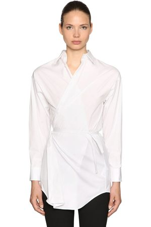 DSQUARED2 Camicia In Popeline Di Cotone Stretch
