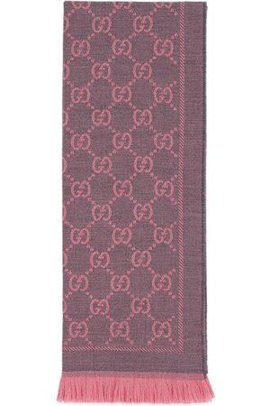 consistenza netta lusso disegni attraenti Sciarpa in lana GG jacquard