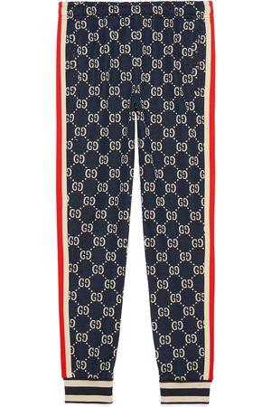 Gucci Pantalone da jogging con motivo GG jacquard