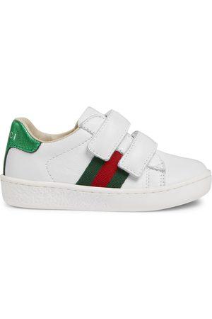 Gucci Sneaker in pelle con dettaglio Web