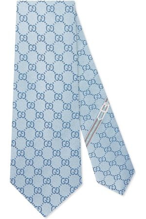 Gucci Cravatta in seta con motivo GG