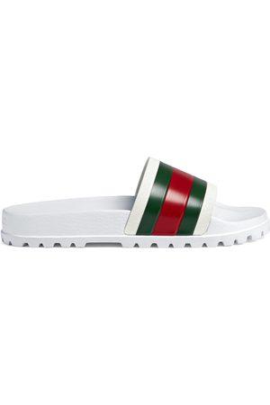 Gucci Sandalo slider con dettaglio Web