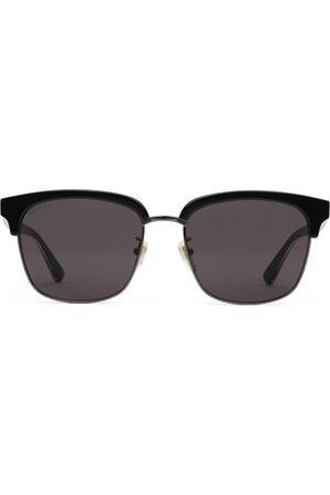 Gucci Uomo Occhiali da sole - Occhiali da sole rettangolari in metallo