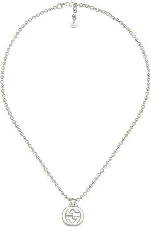 Gucci Collana con ciondolo GG in argento