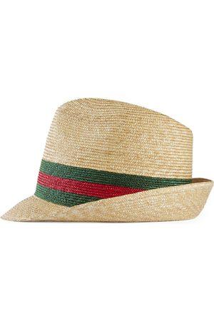 Gucci Cappello fedora in paglia intrecciata