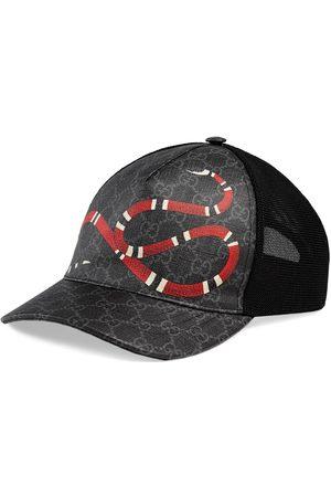Gucci Cappellino da baseball in tessuto GG Supreme con stampa Kingsnake