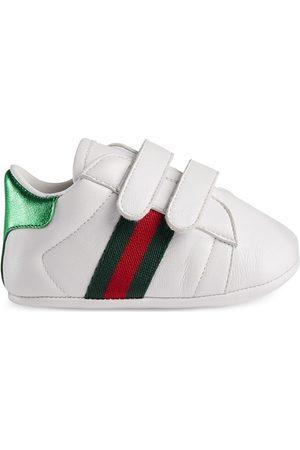 Gucci Sneaker Ace in pelle con dettaglio Web